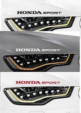 2 x HONDA SPORT -  VINYL CAR DECAL STICKER ADHESIVE  -  CIVIC ACCORD  300mm long