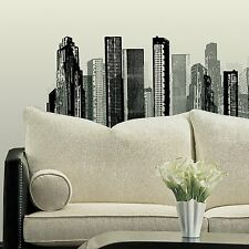 CITYSCAPE GiAnT wall Stickers Mural Room Decor Decals Buildings City SkyScraper