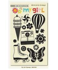 My Minds Eye MY GIRL Clear Stamp Set