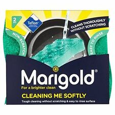 6 x Marigold Cleaning Me Softly Non Scratch Foam Back All Purpose Scourer New