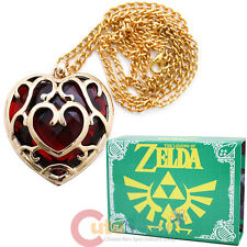Legend of Zelda Skyward Sword Heart Containers Necklace  with Box -Red Heart