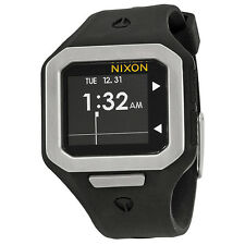 Nixon Supertide Black Dial Black Silicone Strap Mens Watch A316180