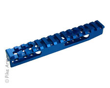 """EXTENDED REVERSIBLE 3/4"""" HEIGHT RUGER 10/22 PICATINNY SCOPE RAIL - SATIN BLUE"""