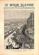 Union des sociétés de gymnastique de France USGF Alger Algerie GRAVURE 1896