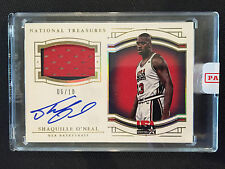 2015-16 National Treasures SHAQUILLE O'NEAL #06/10 AUTO PATCH USA AUTOGRAPH RARE