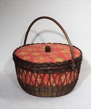 Vintage Loom Nähkasten Utensilienbox Nähkorb Kleinteile Box mit Inhalt ~60er