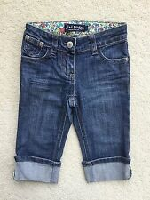 Mini Boden Girls Roll Up Cropped Jeans. Age 4 Years