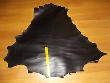 BLACK VEG TANNED Kangaroo leather skin hide 800 mm x 800 mm