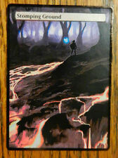 Magic the Gathering Shock Land MTG altered art Zelda Stomping Ground.
