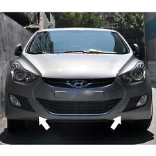 Fog Lamp Garnish Cover Molding Matt Black For 11 12 13 Hyundai Elantra
