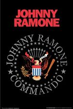 THE RAMONES POSTER ~ JOHNNY RAMONE COMMANDO 24x36 Music Guitar Hey Ho Let's Go