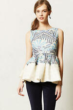 RARE Anthropologie Kerala Peplum Top Size 2 by Fish Fry