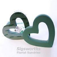 "15"" OPEN HEART Shape Funeral Foam Frame Tribute OASIS Ideal Floral Floristry"