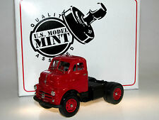 US Model Mint/Brooklin US-31, 1953 Dodge COE Semi-Tractor, red and black, 1/43