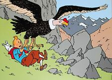 Affiche Hergé Tintin et l'aigle 50x70 cm