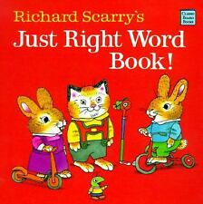 Richard Scarry's Just Right Word Book (Classic Board Books) Scarry, Richard Boa