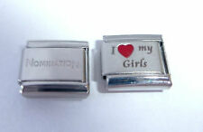 I LOVE MY GIRLS 9mm Italian Charm + 1x Genuine Nomination Classic Link RED HEART