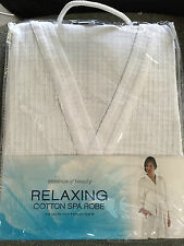 Essence of Beauty Relaxing Cotton Spa Robe ONE SIZE FITS ALL