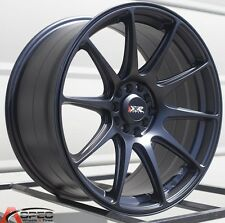 17X8.25 XXR 527 WHEELS 5X100/114.3 RIM 25MM FLAT BLACK FITS CAMRY ECLIPSE RSX