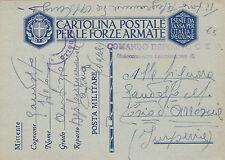 FRANCHIGIA POSTA COMANDO DEPOSITO CT DISTACCAMENTO DI CAPUA NAPOLI  1942 2-177