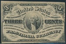 Fr1226 3¢ 3Rd Issue Fractional W/ Light Background To Portrait Choice Cu Br3270
