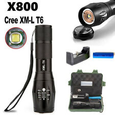 XM-L T6  LED Zoomable 5000Lm Tactical Flashlight Torch Lamp+Case Outdoor Tool S