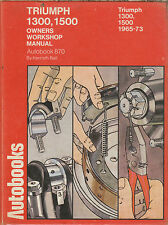 Autobooks Truimph 1300 1500 Car Repair Manual 1965-1973 (870)