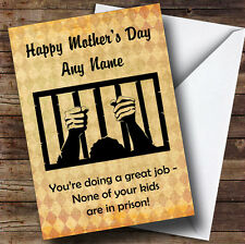 Funny Joke Kids In Prison Personalised Mother's Day Greetings Card