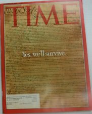 Time Magazine We The People Will Survive December 2000 WITH ML 042015R