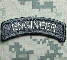 ENGINEER TAB TACTICAL USA ARMY VELCRO® BRAND ACU LIGHT MORALE BADGE PATCH