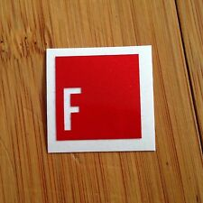 F - Bike Bicycle Sticker Decal