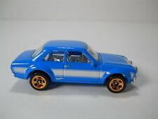 Hotwheels 1970 Ford Escort Fast & Furious Blue~White 1/64 Scale JC42