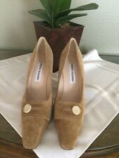 New W/O Box Manolo Blahnik Camel Colored Suede Heels~ Sz.39