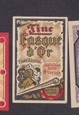 Ancienne  étiquette  allumettes  Belgique BN14582 Alcool Fine casque d'or