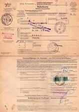 BUNDESREPUBLIK DEUTSCHLAND - RARO BOLLETTINO DI SPEDIZIONE PACCHI - 1968