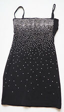 TADASHI  Black White Bead Cut Out Back Above Knee Cocktail Dress  - Small