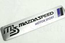 1PCS BLACK LETTER MS MAZDASPEED MOTORSPORT CAR BODY SIDE STICKER ALUMINUM EMBLEM