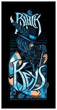 The Black Keys 2012 Poster Fresno Save Mart CA  Numbered #/168 Brad Klausen