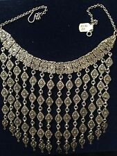 Yemeni Womens Old Silver Big Necklace Traditional Wedding Collectable Unique