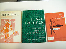 MAN THE TOOL-MAKER, MAN IN PROCESS & HUMAN EVOLUTION LOT OF 3 BOOKS