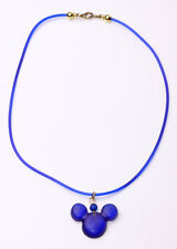 PLAYFUL DARK BLUE CHOKER 'MICKEY MOUSE' PENDANT CASUAL WEAR UK SELLER (ZX25)