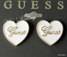 GUESS  Jeans Heart  Earring  Earrings Post  Gold Tone  Charms    NWT