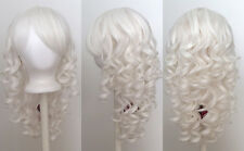 20'' Long Layered Super Curly Long Bangs Snow White Synthetic Cosplay Wig NEW