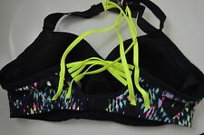 Victoria's Secret sports bra VSX The angel neon design 34B strappy