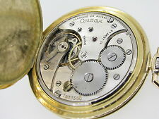 VINTAGE OMEGA POCKET WATCH ART DECO 18K SOLID GOLD *Swiss Made* YEAR 1956