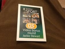 Jackie Stewart / Motor racing / A Question of Sport game card 1999