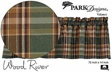 Green, Tan & Brown Earthy Plaid Wood River Valance by Park Designs, 72x14 474-47