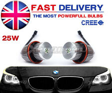 BMW E65 E66 E39 E60 E61 M5 25W LED ANGEL EYES HALO RINGS lampadine aggiornate KIT