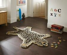 Animals Leah Leopard 100% Wool Rug, Brown, 90 x 150 Cm