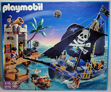 GEOBRA PLAYMOBIL 2006 # 5775 PIRATES PIRATE ATTACK SHIP & PRISON SET SEALED